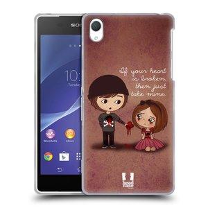 Silikonové pouzdro na mobil Sony Xperia Z2 D6503 HEAD CASE Emo Love Srdce