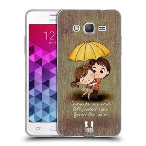 Silikonové pouzdro na mobil Samsung Galaxy Grand Prime VE HEAD CASE Emo Love v Dešti