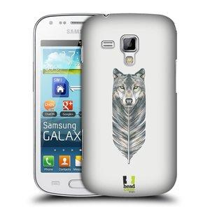Plastové pouzdro na mobil Samsung Galaxy S Duos 2 HEAD CASE PÍRKO VLK