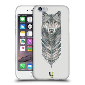 Silikonové pouzdro na mobil Apple iPhone 6 a 6S HEAD CASE PÍRKO VLK