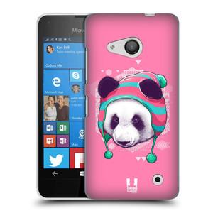 Plastové pouzdro na mobil Microsoft Lumia 550 HEAD CASE HIPSTR PANDA
