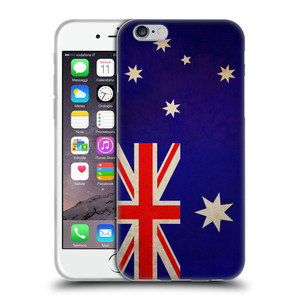 Silikonové pouzdro na mobil Apple iPhone 6 HEAD CASE VLAJKA AUSTRÁLIE