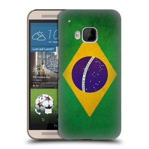 Plastové pouzdro na mobil HTC ONE M9 HEAD CASE VLAJKA BRAZÍLIE