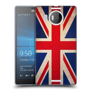Silikonové pouzdro na mobil Microsoft Lumia 950 XL HEAD CASE VLAJKA VELKÁ BRITÁNIE