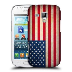 Plastové pouzdro na mobil Samsung Galaxy S Duos 2 HEAD CASE VLAJKA USA