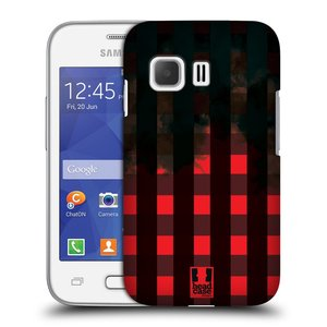 Plastové pouzdro na mobil Samsung Galaxy Young 2 HEAD CASE FLANEL RED BLACK
