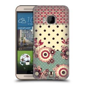 Plastové pouzdro na mobil HTC ONE M9 HEAD CASE KVÍTKA PINK CREAM