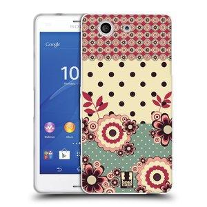 Silikonové pouzdro na mobil Sony Xperia Z3 Compact D5803 HEAD CASE KVÍTKA PINK CREAM
