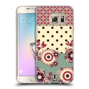 Silikonové pouzdro na mobil Samsung Galaxy S7 Edge HEAD CASE KVÍTKA PINK CREAM