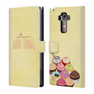 Flipové pouzdro na mobil LG G4 Stylus HEAD CASE Cupcake good things