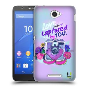 Plastové pouzdro na mobil Sony Xperia E4 E2105 HEAD CASE Love to be captured