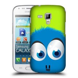 Plastové pouzdro na mobil Samsung Galaxy S Duos 2 HEAD CASE FUZÍK MODRÝ