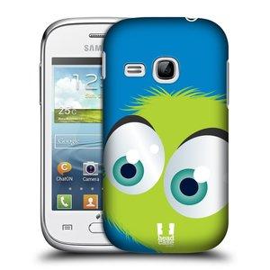 Plastové pouzdro na mobil Samsung Galaxy Young HEAD CASE FUZÍK ZELENÝ