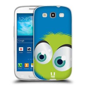 Silikonové pouzdro na mobil Samsung Galaxy S3 Neo HEAD CASE FUZÍK ZELENÝ