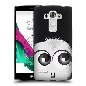 Plastové pouzdro na mobil LG G4s HEAD CASE FUZÍK BÍLÝ