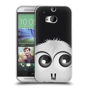 Silikonové pouzdro na mobil HTC ONE M8 HEAD CASE FUZÍK BÍLÝ