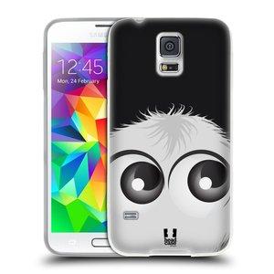 Silikonové pouzdro na mobil Samsung Galaxy S5 HEAD CASE FUZÍK BÍLÝ