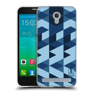Silikonové pouzdro na mobil Alcatel One Touch Idol 2 Mini S 6036Y HEAD CASE GEOMETRIC BLUE