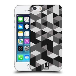 Plastové pouzdro na mobil Apple iPhone SE, 5 a 5S HEAD CASE GEOMETRIC GRAY