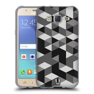 Silikonové pouzdro na mobil Samsung Galaxy J5 HEAD CASE GEOMETRIC GRAY