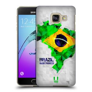 Plastové pouzdro na mobil Samsung Galaxy A3 (2016) HEAD CASE GEOMAPA BRAZÍLIE