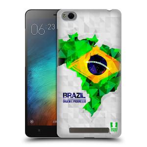 Plastové pouzdro na mobil Xiaomi Redmi 3 HEAD CASE GEOMAPA BRAZÍLIE