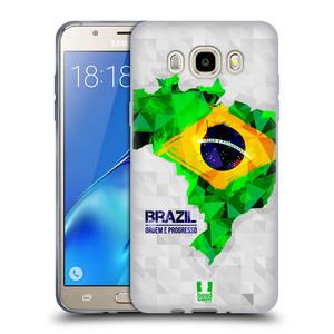 Silikonové pouzdro na mobil Samsung Galaxy J5 (2016) HEAD CASE GEOMAPA BRAZÍLIE