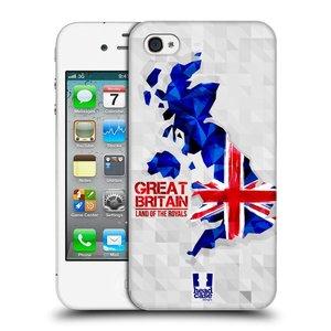 Plastové pouzdro na mobil Apple iPhone 4 a 4S HEAD CASE GEOMAPA VELKÁ BRTÁNIE