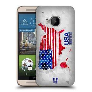 Plastové pouzdro na mobil HTC ONE M9 HEAD CASE GEOMAPA USA