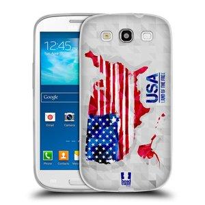 Silikonové pouzdro na mobil Samsung Galaxy S3 Neo HEAD CASE GEOMAPA USA