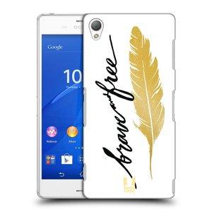 Plastové pouzdro na mobil Sony Xperia Z3 D6603 HEAD CASE PÍRKO ZLATÉ FREE