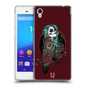 Silikonové pouzdro na mobil Sony Xperia M4 Aqua E2303 HEAD CASE SOVÍ DÁMA ZULU