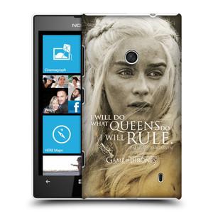 Plastové pouzdro na mobil Nokia Lumia 520 HEAD CASE Hra o trůny - Daenerys Targaryen