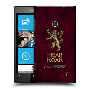 Plastové pouzdro na mobil Nokia Lumia 520 HEAD CASE Hra o trůny - Sigils Lannister - Hear Me Roar