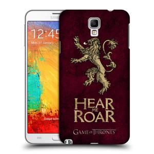 Plastové pouzdro na mobil Samsung Galaxy Note 3 Neo HEAD CASE Hra o trůny - Sigils Lannister - Hear Me Roar
