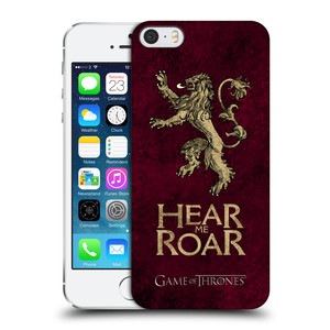 Plastové pouzdro na mobil Apple iPhone SE, 5 a 5S HEAD CASE Hra o trůny - Sigils Lannister - Hear Me Roar