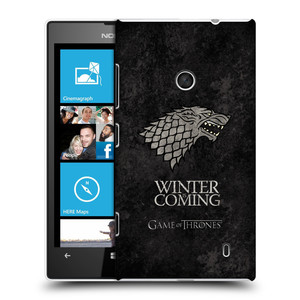 Plastové pouzdro na mobil Nokia Lumia 520 HEAD CASE Hra o trůny - Stark - Winter is coming