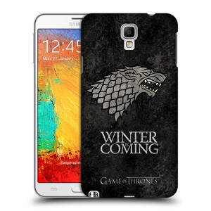Plastové pouzdro na mobil Samsung Galaxy Note 3 Neo HEAD CASE Hra o trůny - Stark - Winter is coming