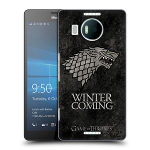 Plastové pouzdro na mobil Microsoft Lumia 950 XL HEAD CASE Hra o trůny - Stark - Winter is coming