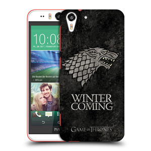Plastové pouzdro na mobil HTC Desire EYE HEAD CASE Hra o trůny - Stark - Winter is coming