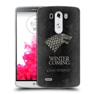 Silikonové pouzdro na mobil LG G3 HEAD CASE Hra o trůny Stark - Winter is coming
