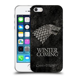 Silikonové pouzdro na mobil Apple iPhone SE, 5 a 5S HEAD CASE Hra o trůny - Stark - Winter is coming