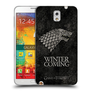 Silikonové pouzdro na mobil Samsung Galaxy Note 3 HEAD CASE Hra o trůny - Stark - Winter is coming