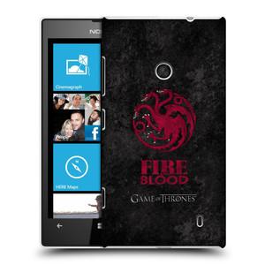 Plastové pouzdro na mobil Nokia Lumia 520 HEAD CASE Hra o trůny - Sigils Targaryen - Fire and Blood