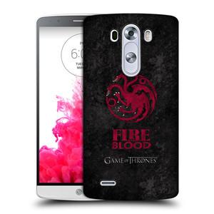 Plastové pouzdro na mobil LG G3 HEAD CASE Hra o trůny - Sigils Targaryen - Fire and Blood