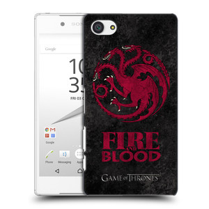 Plastové pouzdro na mobil Sony Xperia Z5 Compact HEAD CASE Hra o trůny - Sigils Targaryen - Fire and Blood