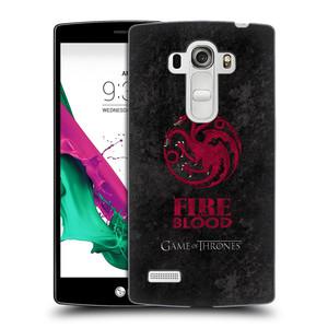 Plastové pouzdro na mobil LG G4s HEAD CASE Hra o trůny - Sigils Targaryen - Fire and Blood