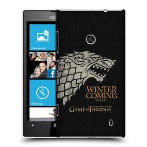 Plastové pouzdro na mobil Nokia Lumia 520 HEAD CASE Hra o trůny - Stark House Motto