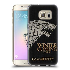 Silikonové pouzdro na mobil Samsung Galaxy S7 Edge HEAD CASE Hra o trůny - Stark House Motto