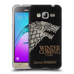 Silikonové pouzdro na mobil Samsung Galaxy J3 (2016) HEAD CASE Hra o trůny - Stark House Motto